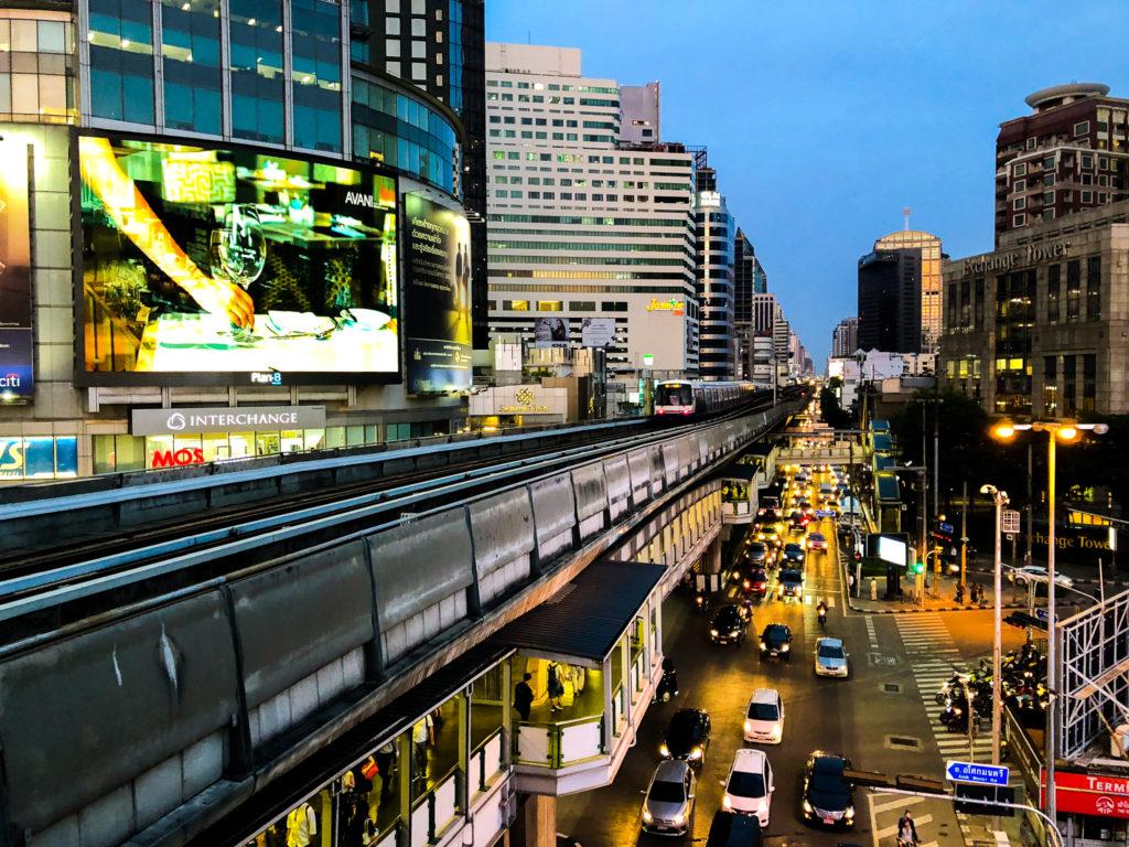 BTSアソーク駅からの風景2。