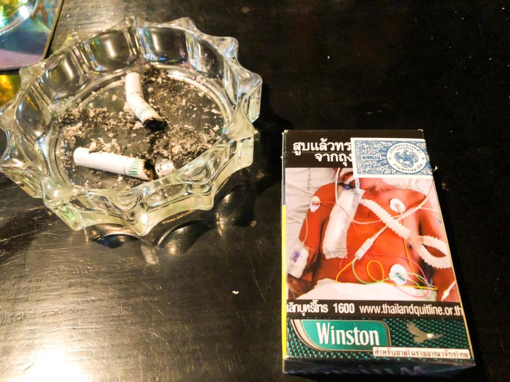 タイのタバコのパッケージは怖い
