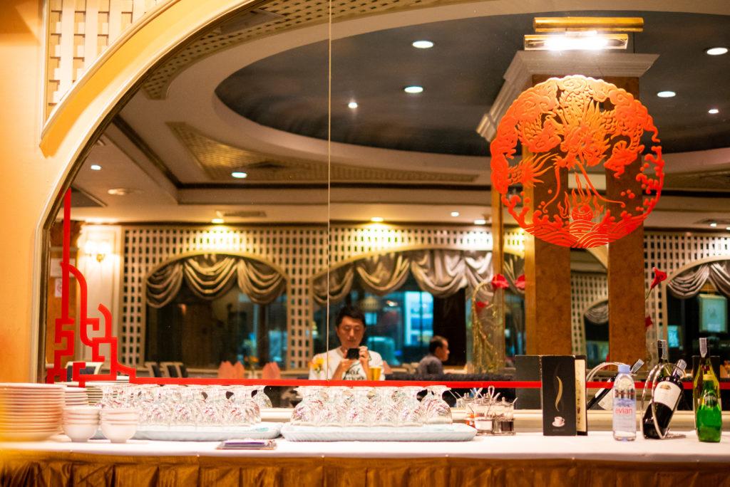 モンティエンホテルのレストラン「ルエントン」。
