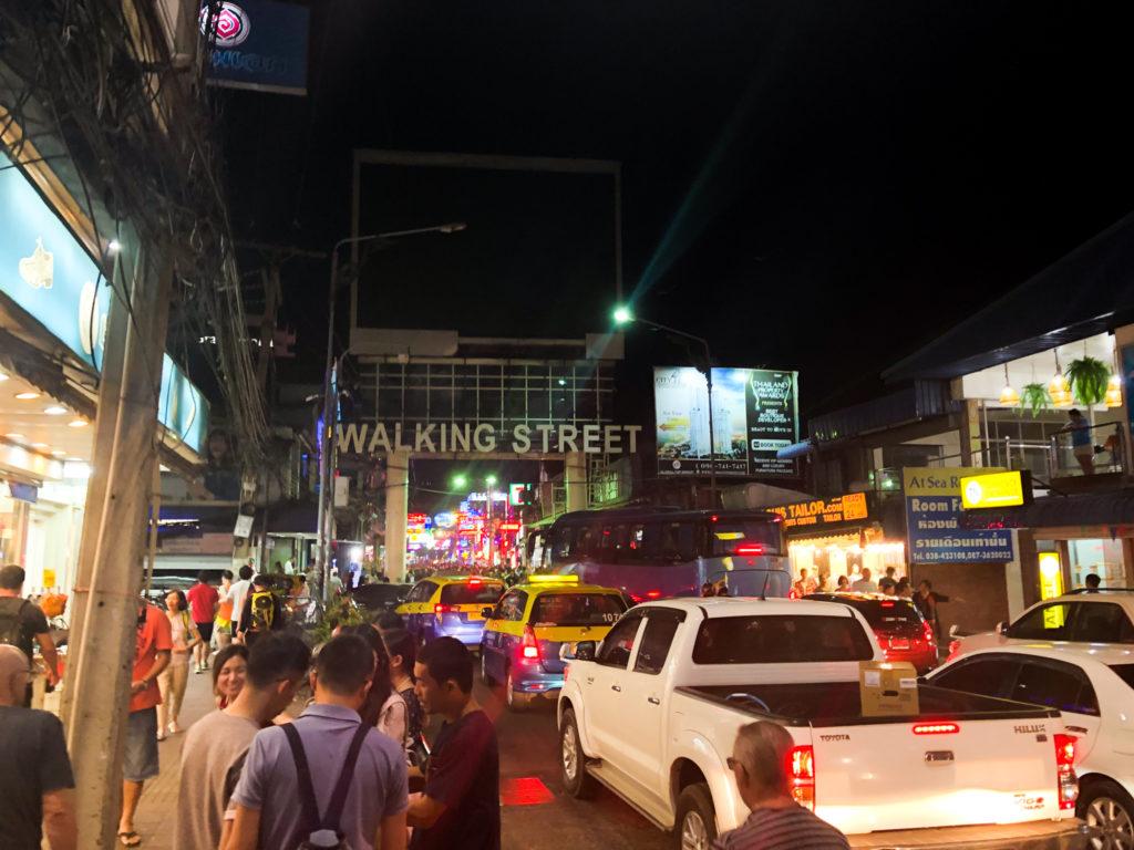 パタヤ・ウォーキングストリートの入口